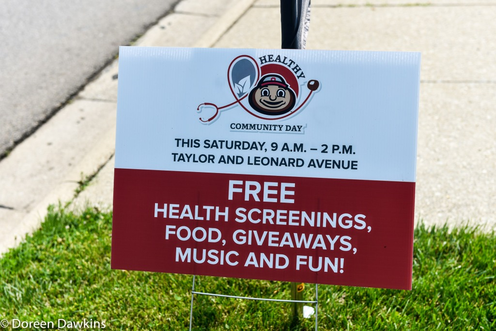 The Ohio State University Wexner Medical Center Healthy Community Day sign