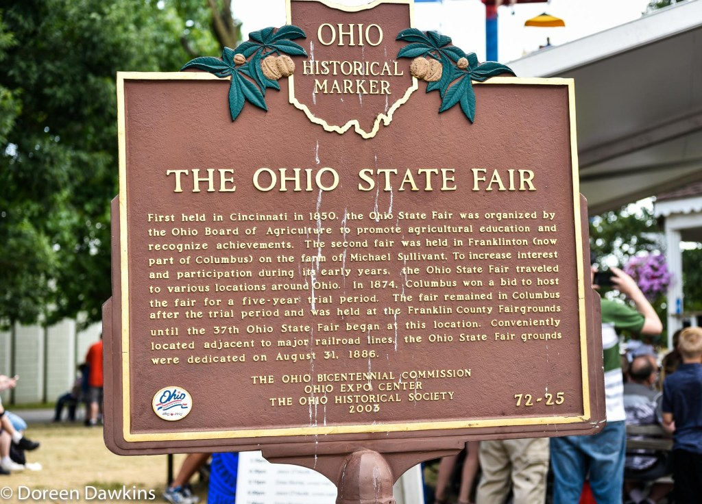 The Ohio State Fair historical marker, Ohio State Fair 2019