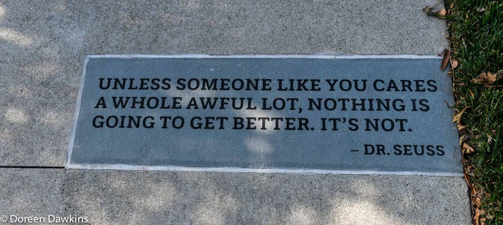 Dr. Seuss quote at Washington Gladden Social Justice Park