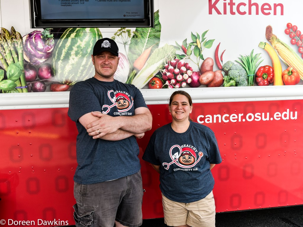 Chef David Brue, Assistant Director at OSU Wexner Medical Center, Amy Patton, The Ohio State University Wexner Medical Center Healthy Community Day