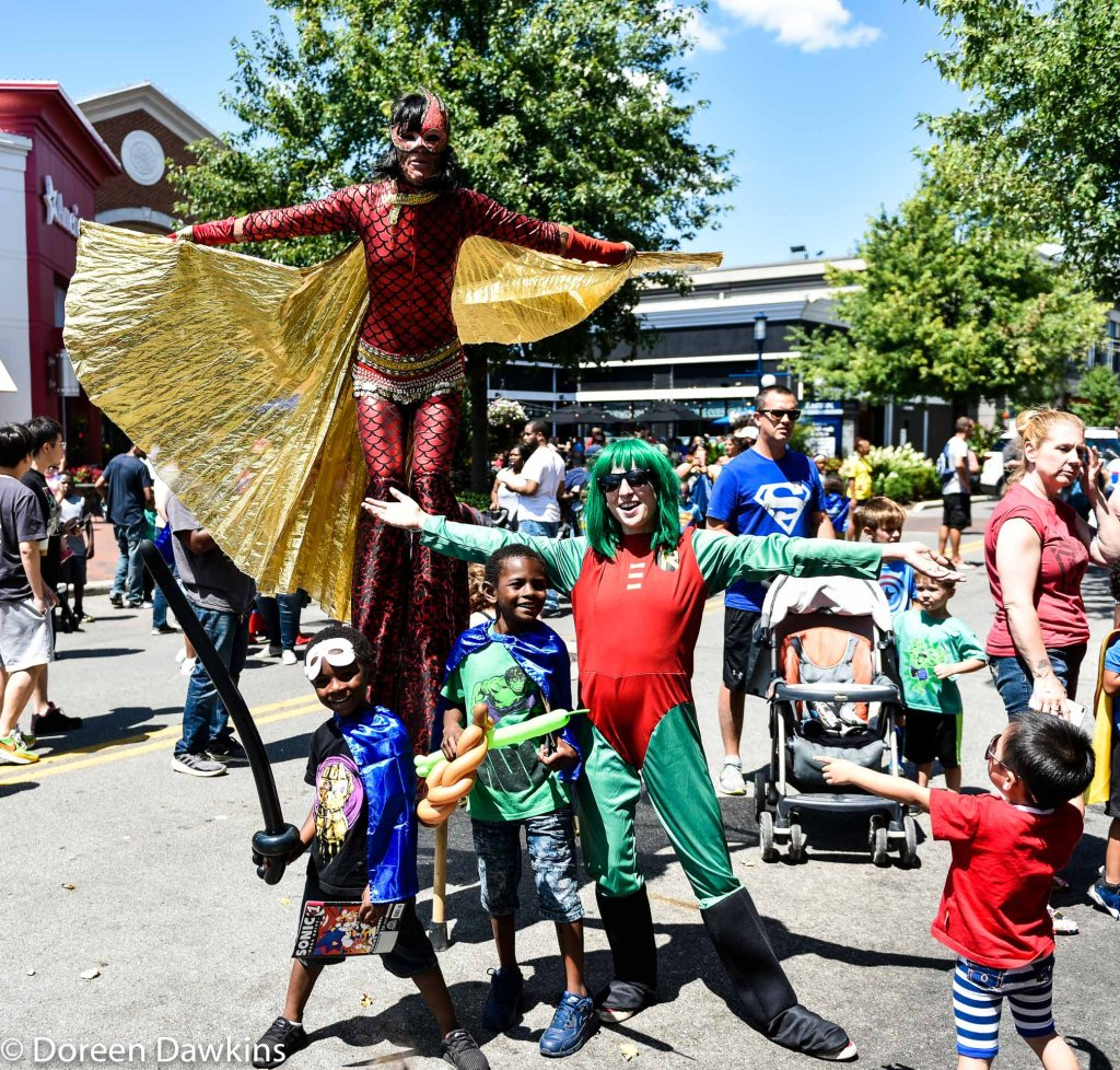 The bravest superhero (Warrior Dragon Princess), Superhero Day at Easton Town Center 2019