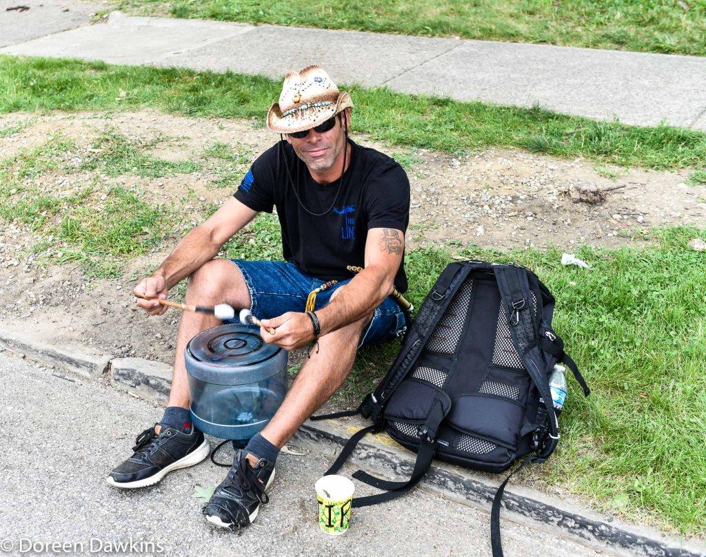 Unique drum, street musician, Columbus Arts Festival 2019