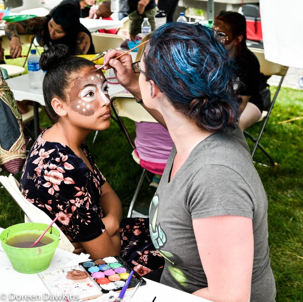 Face painting, Columbus Arts Festival 2019