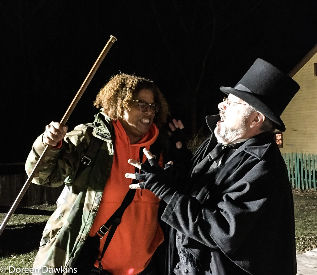 Doreen Dawkins and Mr. Scrooge, Dickens of a Christmas