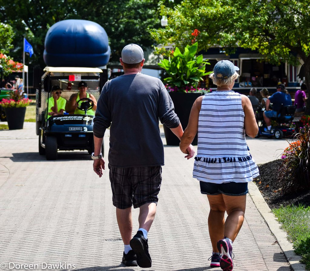 Couple holding hands at the Ohio State Fair 2019