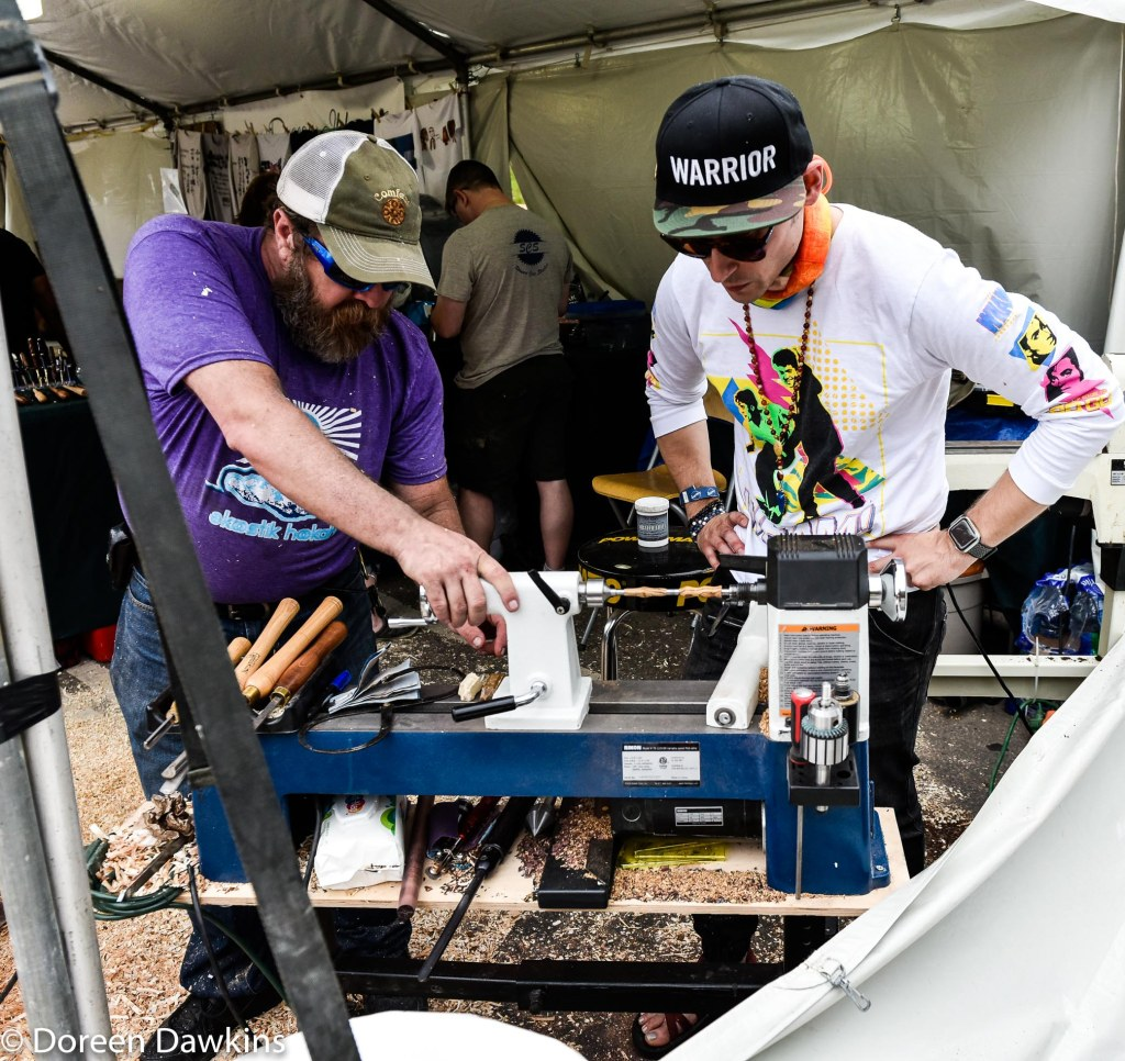 Turning his own pen at the Columbus Arts Festival 2019