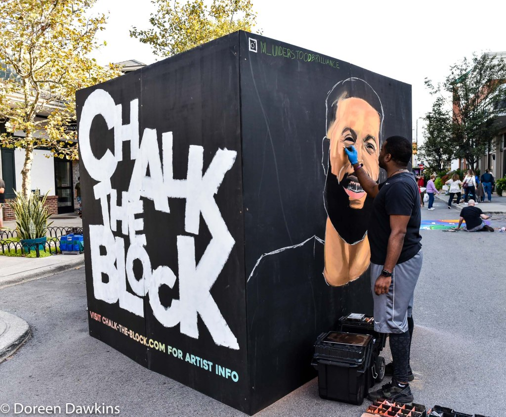 "Artist Darrean Brown, ""Odell Beckham Jr"", Chalk the Block 2019 Instagram: @m_understoodbriliance"