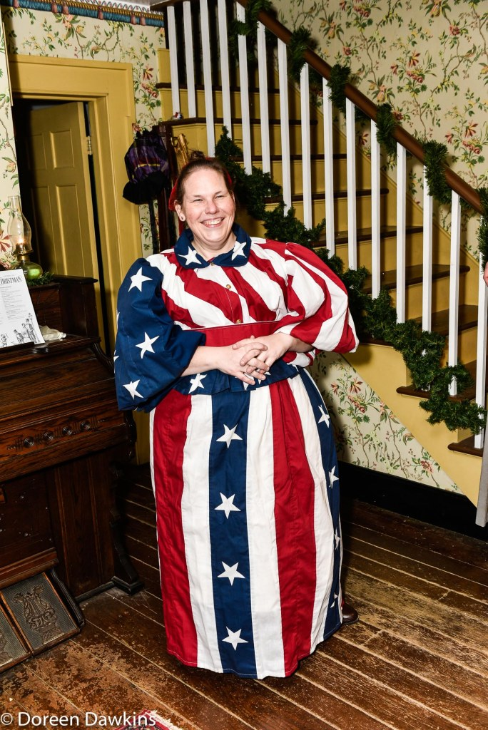 1890s costume the American flag, Dickens of a Christmas