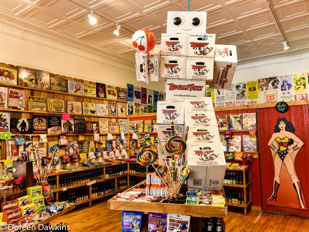 Candy, soda, posters, oh my at Rocket, Rocket Fizz Columbus, OH