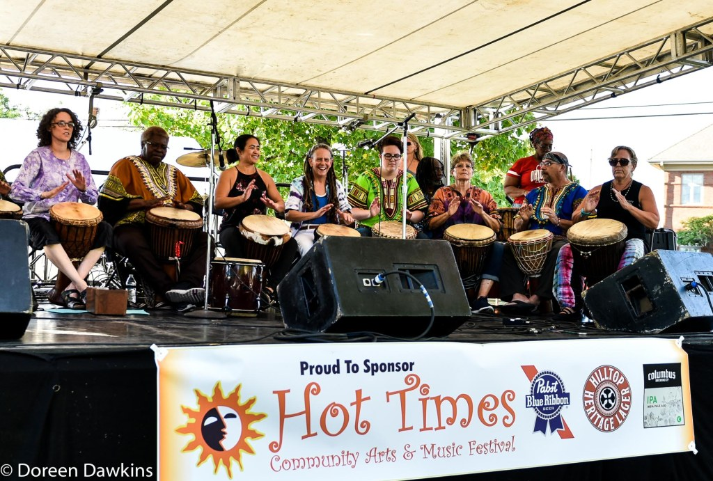 Spirit Drummers with Pat Funderberg at Hot Times Festival 2019