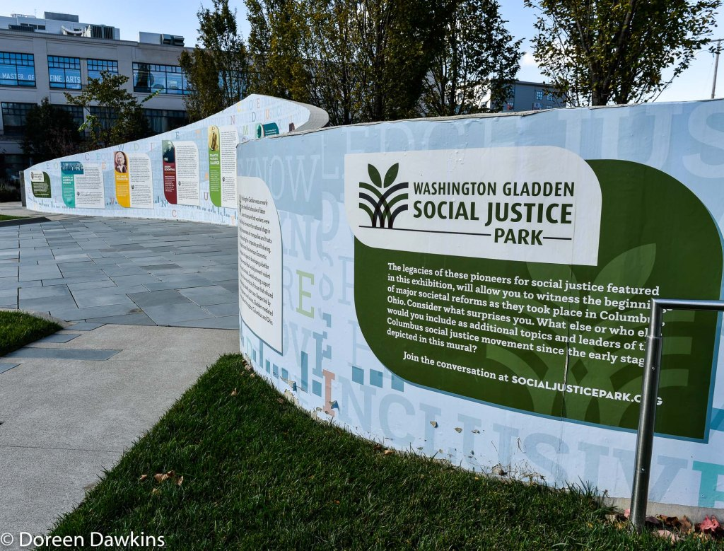 Washington Gladden Social Justice Park wall