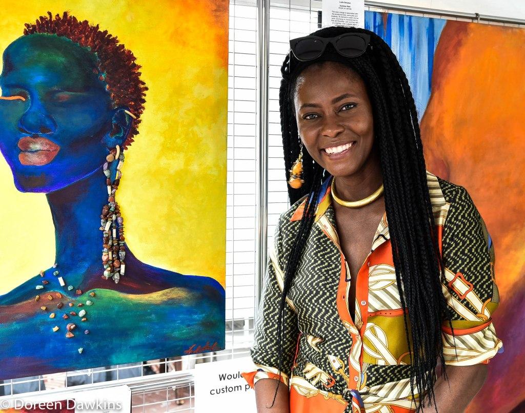 Artist Ludie Sentus, Columbus Arts Festival 2019