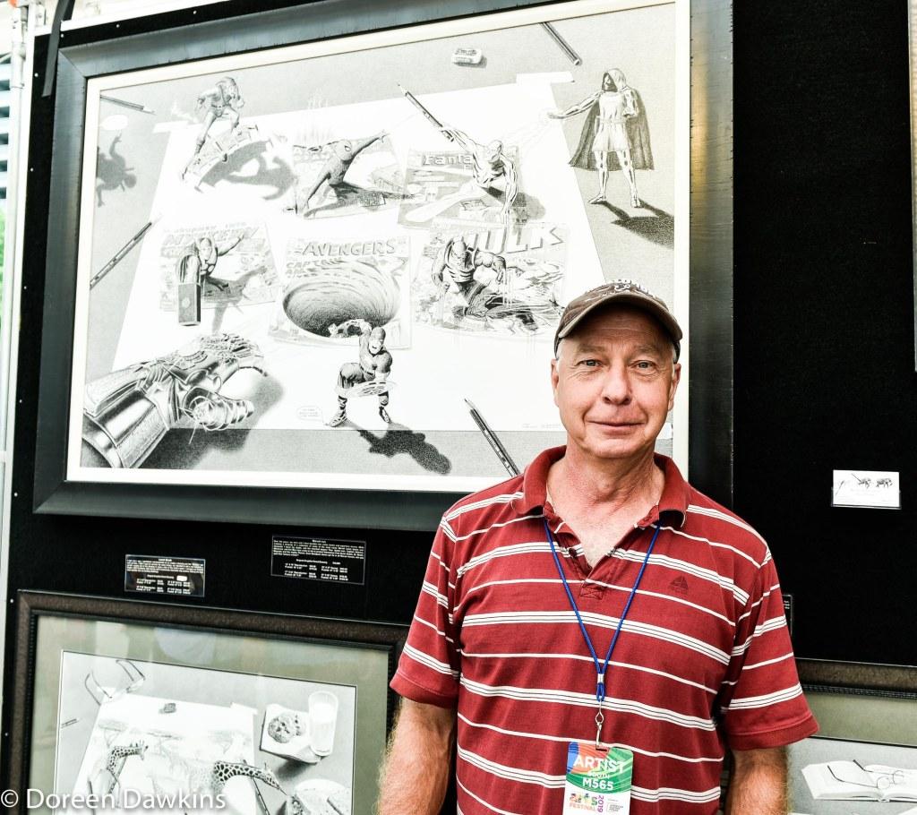 Artist Robin Lauersdorf, Columbus Arts Festival 2019