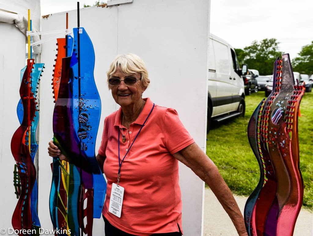Artist Sabra Richards, Columbus Arts Festival 2019
