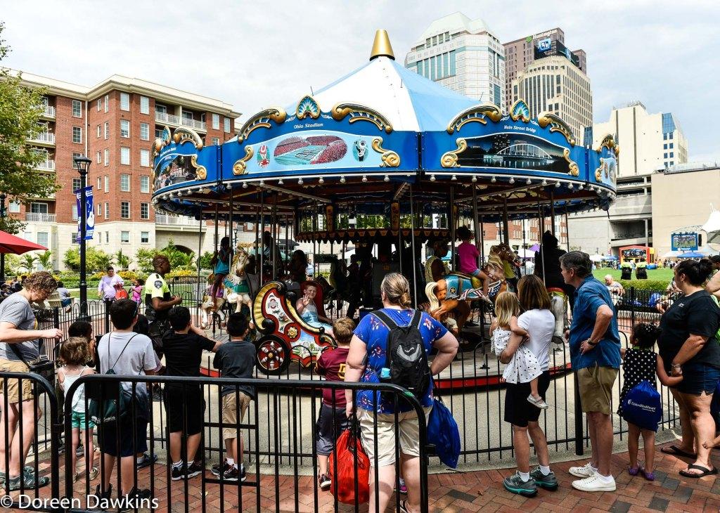 Free merry-go-round rides at Fam Jam 2019