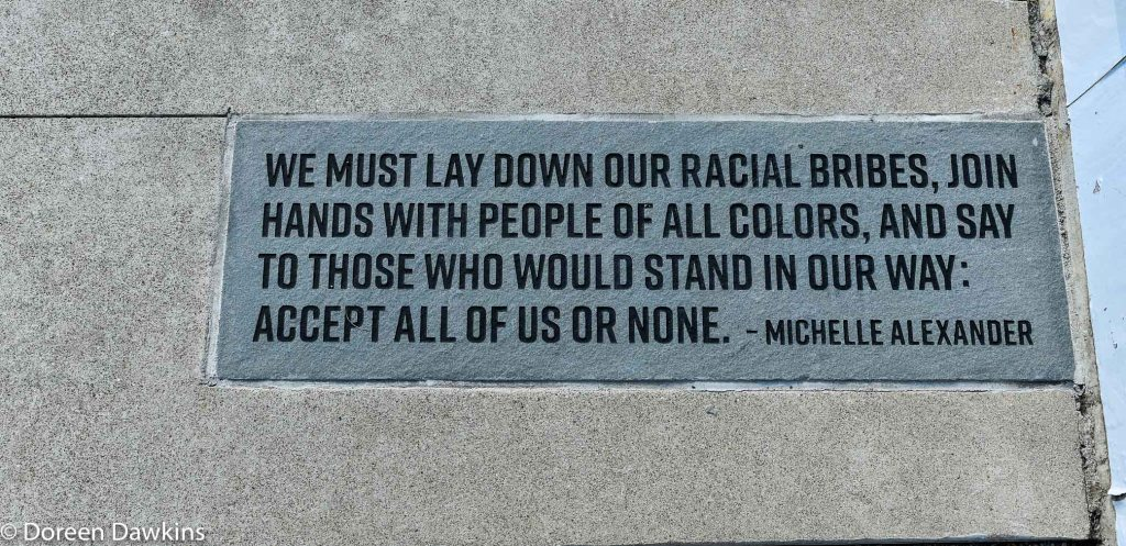 Michelle Alexander quote at Washington Gladden Social Justice Park