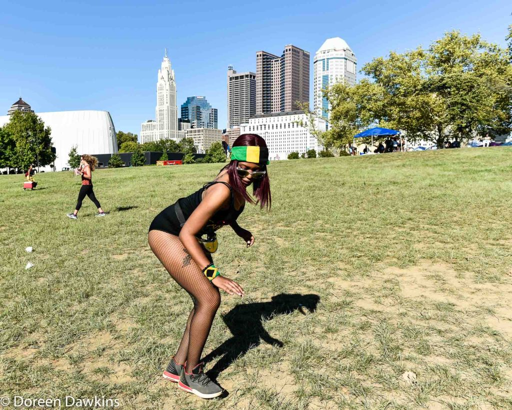 Michelle Damon also known as Code Red dancing at Columbus Caribbean Festival 2019