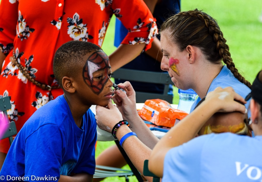 Face painting at Fam Jam 2019