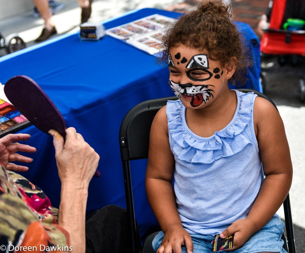 Face painting, Superhero Day at Easton Town Center 2019