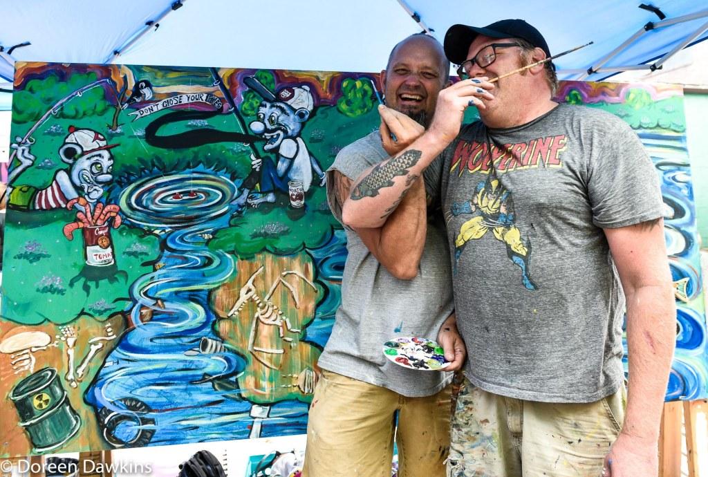 Artist Rob Jones and Artist Dan Gerdeman, Urban Scrawl 2019