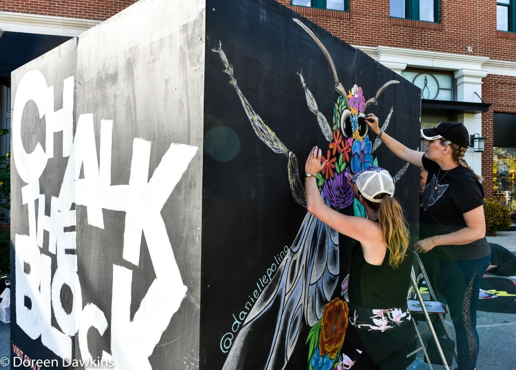 Artist Danielle Poling and  Artist Meg Taylor, Chalk the Block 2019 Instagram: @daniellepoling and @megtaylorart