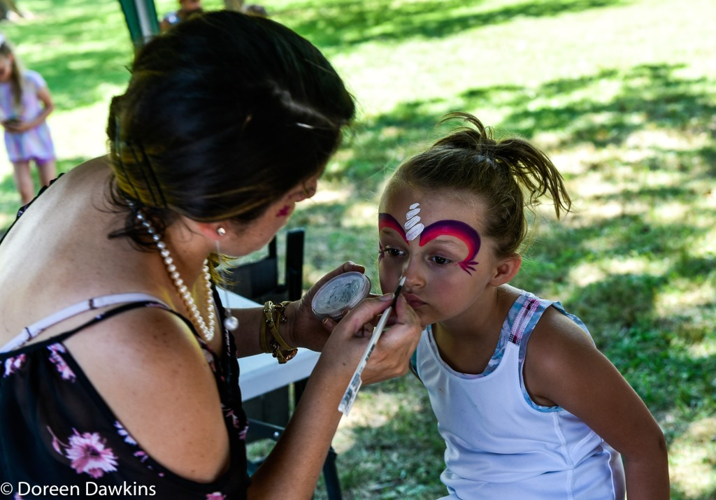 Face painting, Summer Jam West 2019