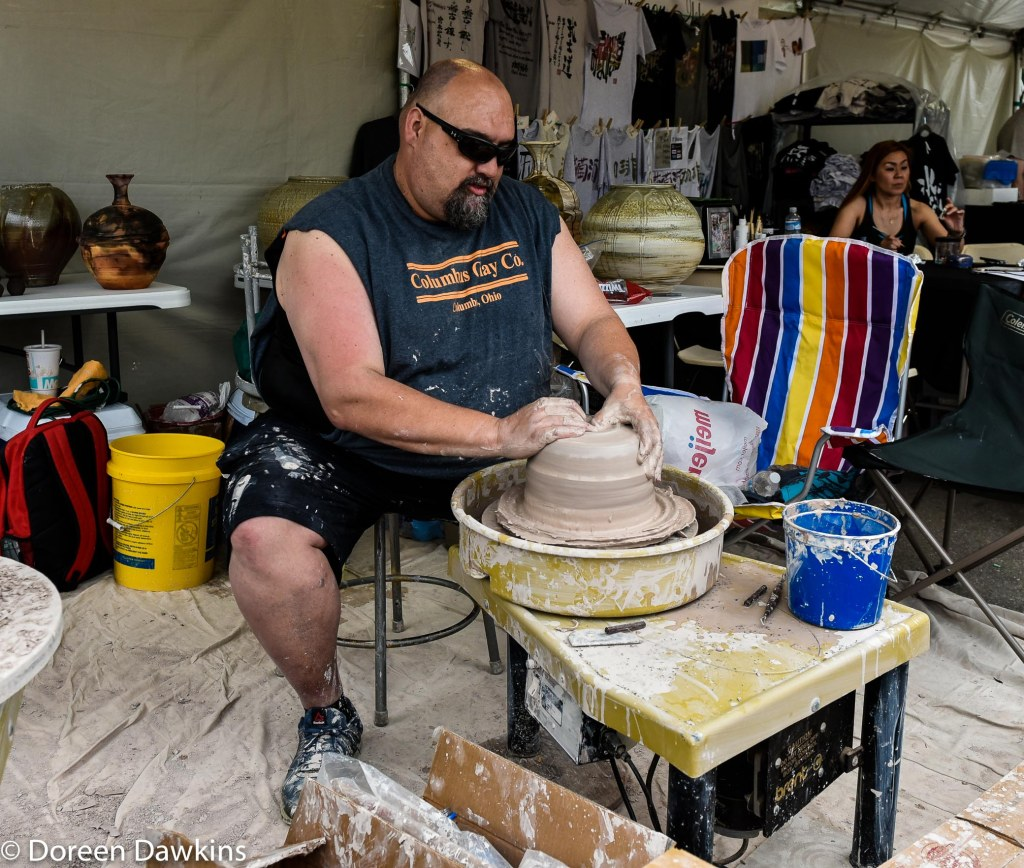 Ceramist Kevin Russell at the Columbus Arts Festival 2019