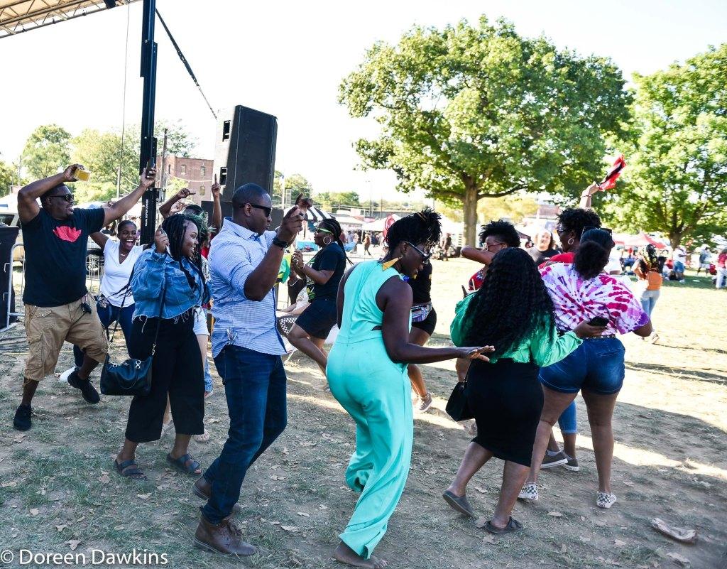 Dance circle at Columbus Caribbean Festival 2019