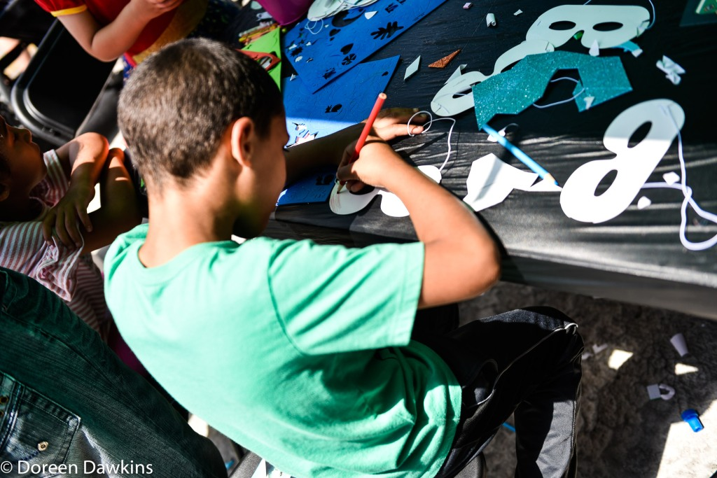Make Your Own Mask, Superhero Day at Easton Town Center 2019