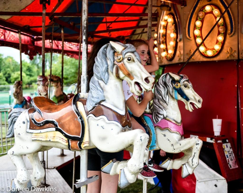 Enjoying the rides, Reynoldsburg Tomato Festival 2019