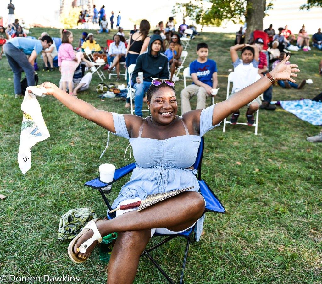 Sulayne Barrett, enjoying the Columbus Caribbean Festival 2019