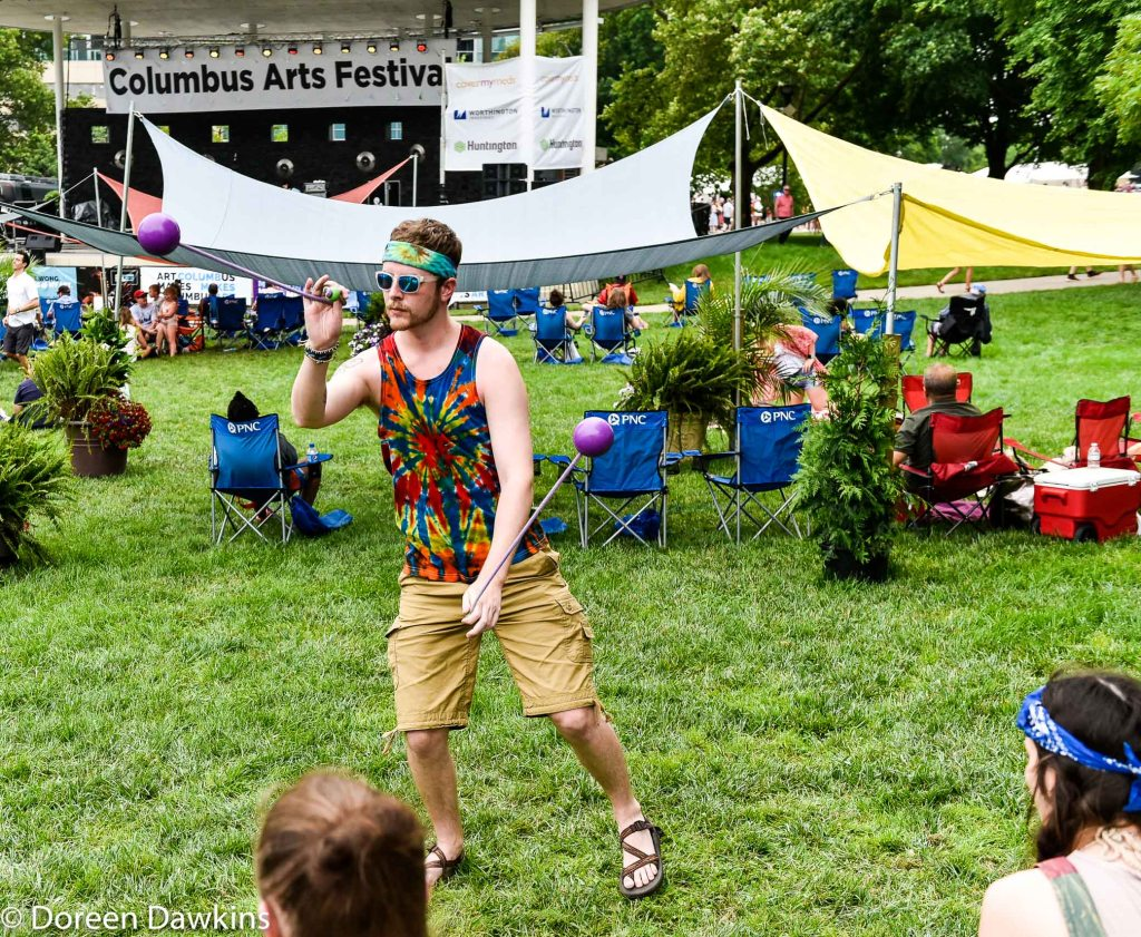 Jay Spinning at the  Columbus Arts Festival 2019