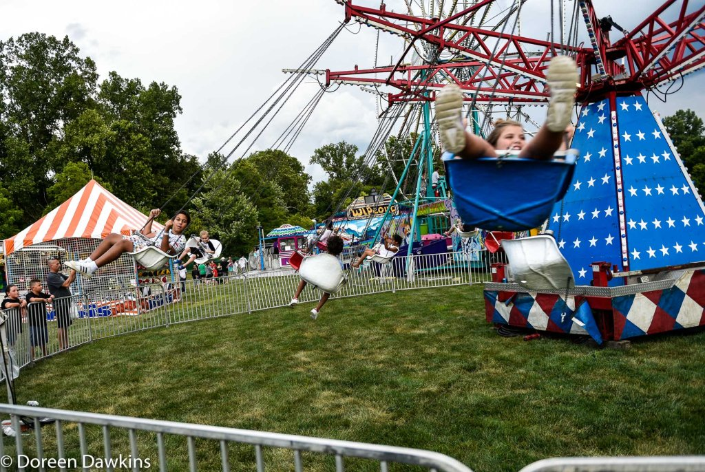 Enjoying the rides, Reynoldsburg Tomato Festival 2019