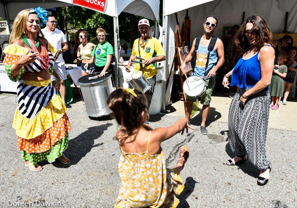 Dancing at Festival Latino 2019