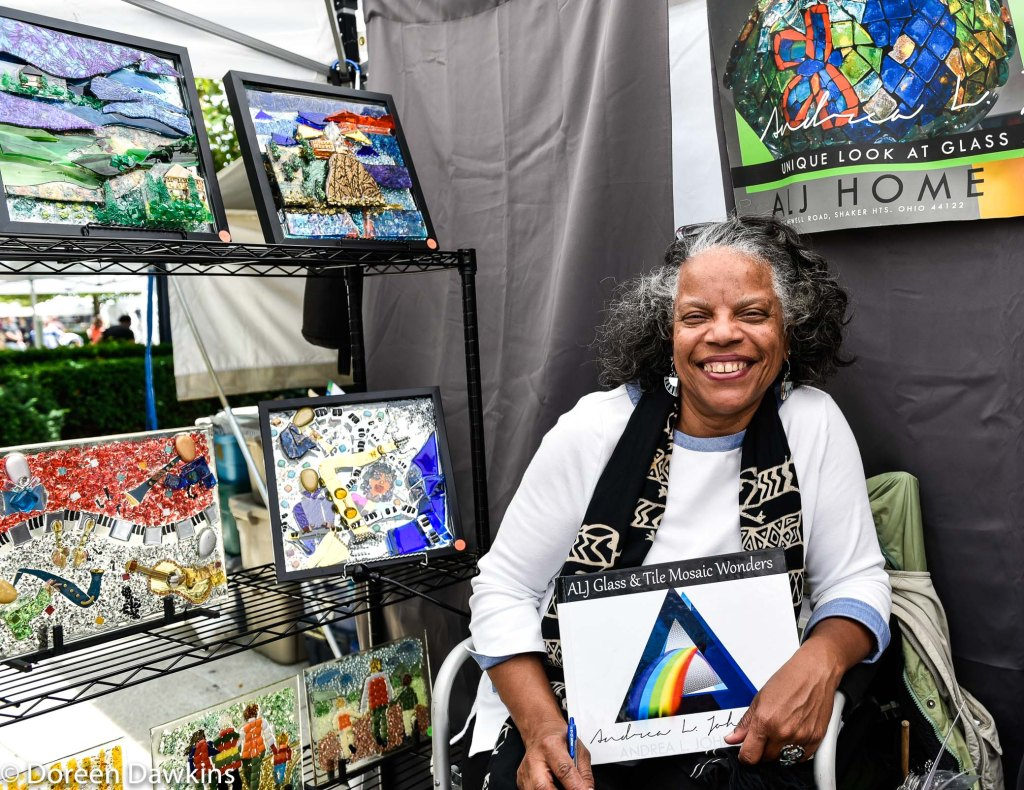 Artist Andrea Johnson, Easton Art Affair 2019