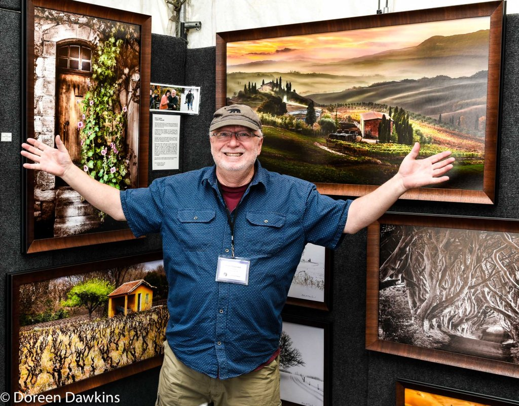 Artist Bob Copeland, Easton Art Affair 2019
