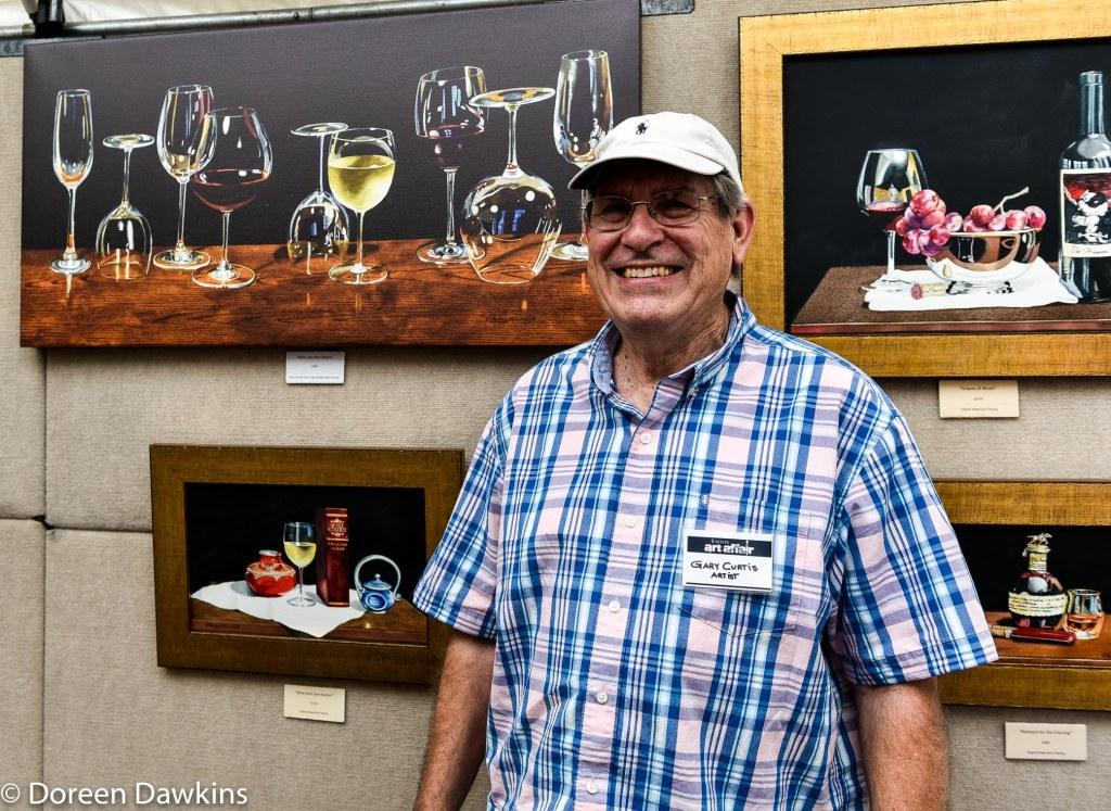 Artist Gary Curtis, Easton Art Affair 2019