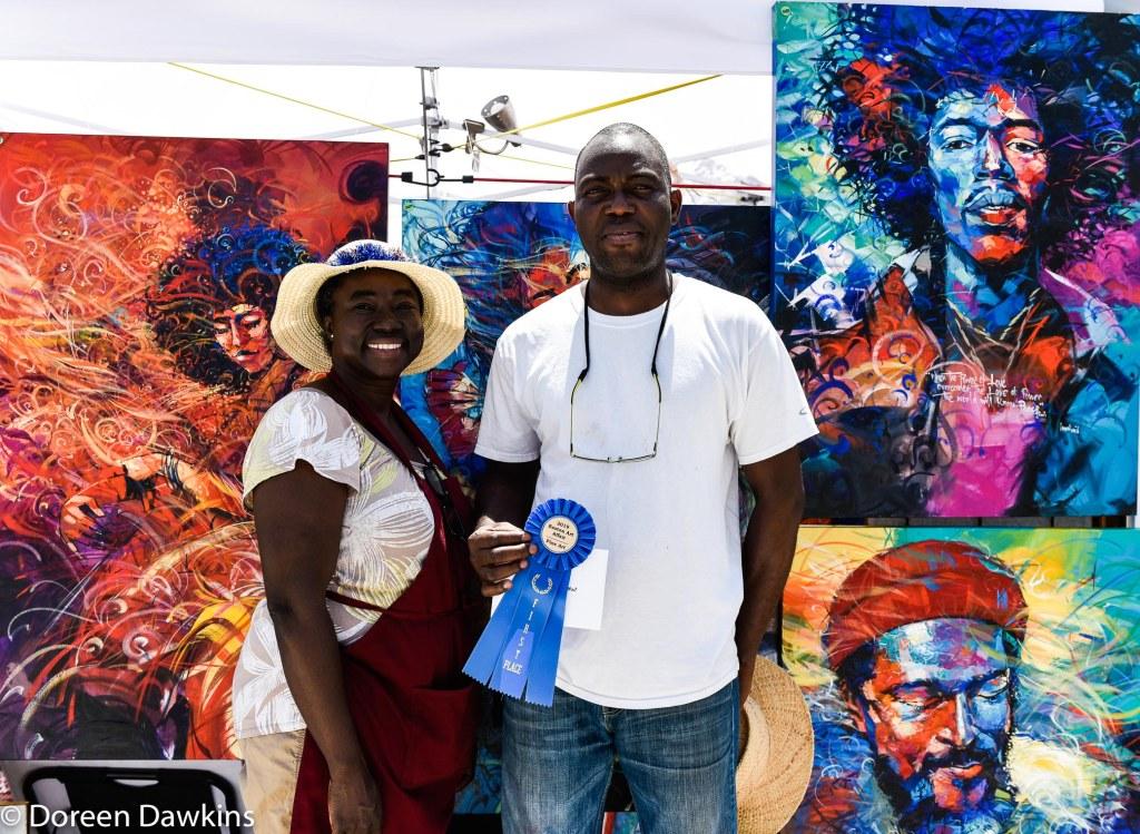 Artist Said Lawal, Easton Art Affair 2019