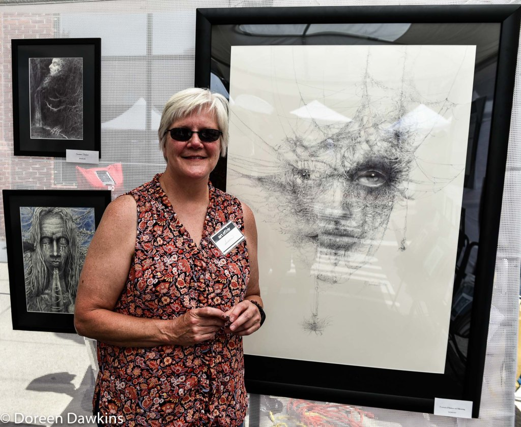 Artist Susan Deaton, Easton Art Affair 2019