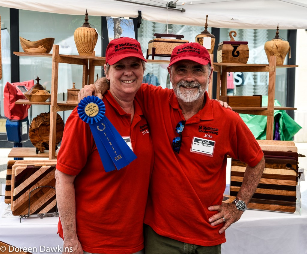 Artists Mike and Debbie McGinnis, Easton Art Affair 2019