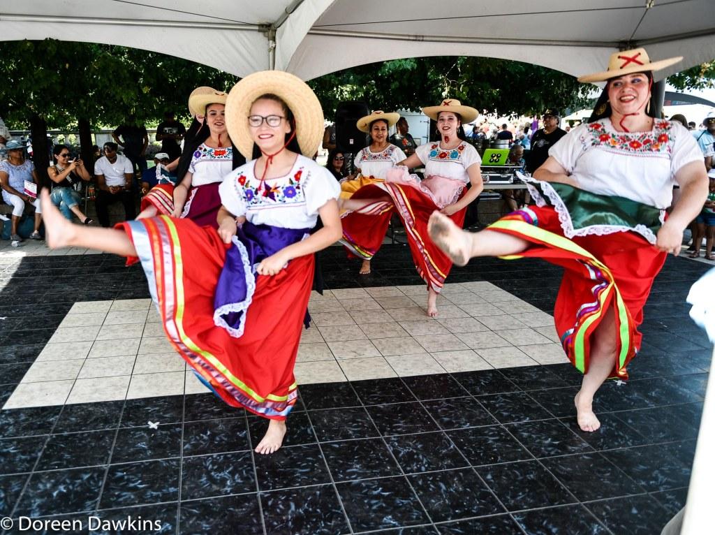 El Corazon de Mexico, Mexican folkloric Dance Company dancing at Festival Latino 2019