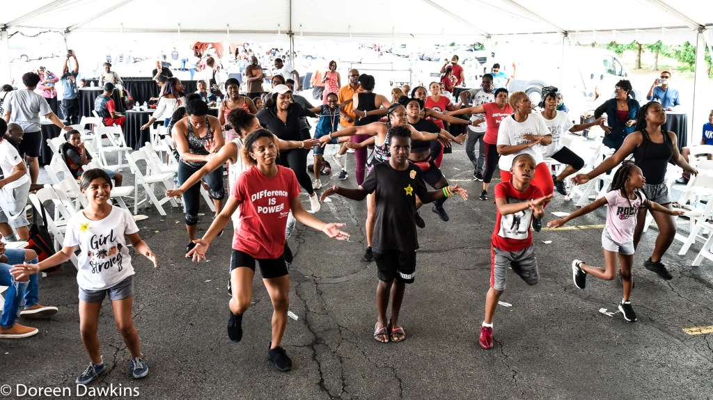 Get moving!, Divine Impact Fitness at the Ohio State University Wexner Medical Center Healthy Community Day