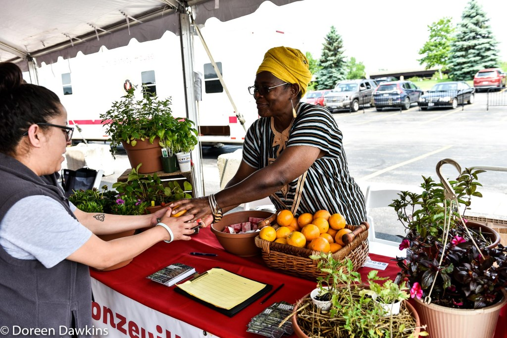 Julialynne Walker of the Bronzeville Growers Market, The Ohio State University Wexner Medical Center Healthy Community Day