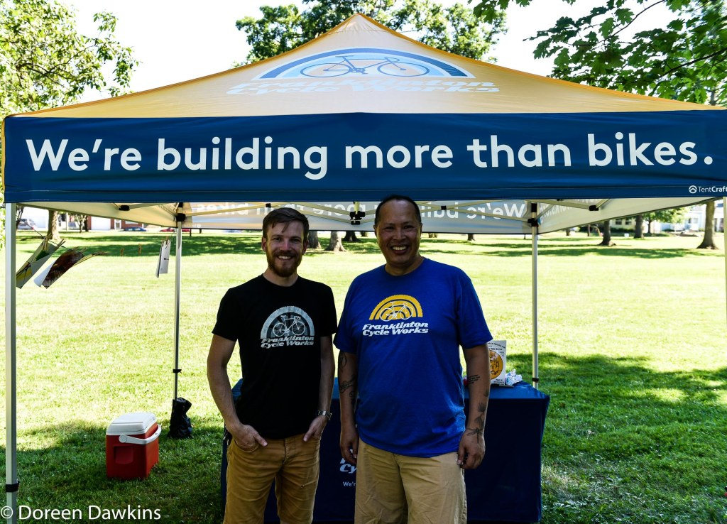 Johnathan Youngman and Joseph of Franklinton Cycle Works, Summer Jam West 2019