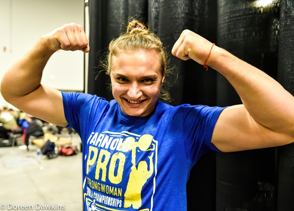 Pro Strongwoman second consecutive winner Olga Liashchuk at the Arnold Sports Festival 2020