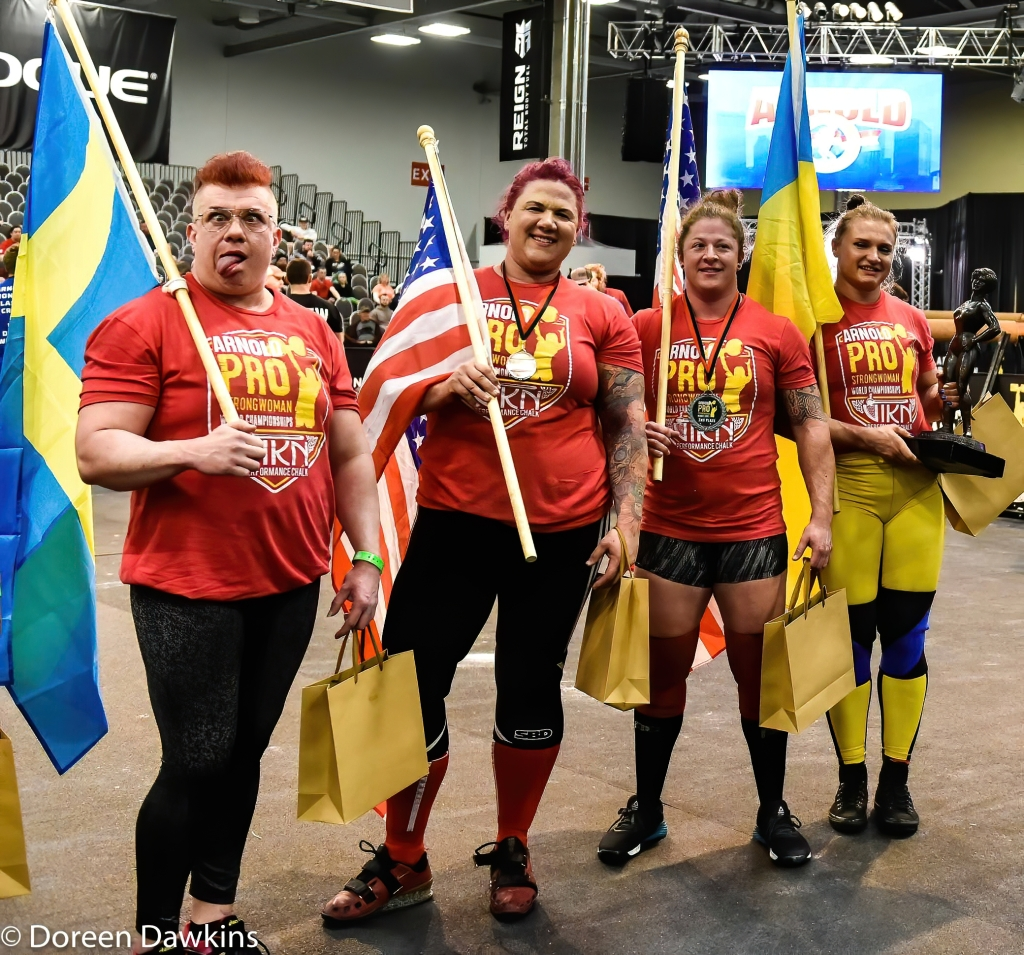 Pro Strongwoman top four athletes at the Arnold Sports Festival 2020