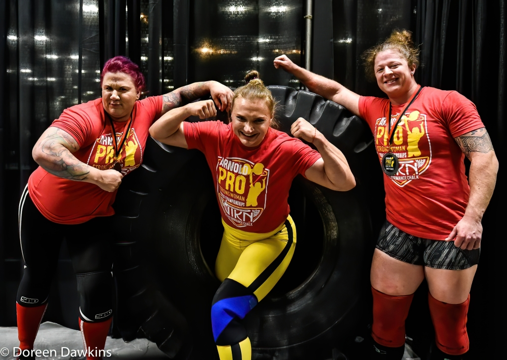 Pro Strongwoman top three athletes at the Arnold Sports Festival 2020
