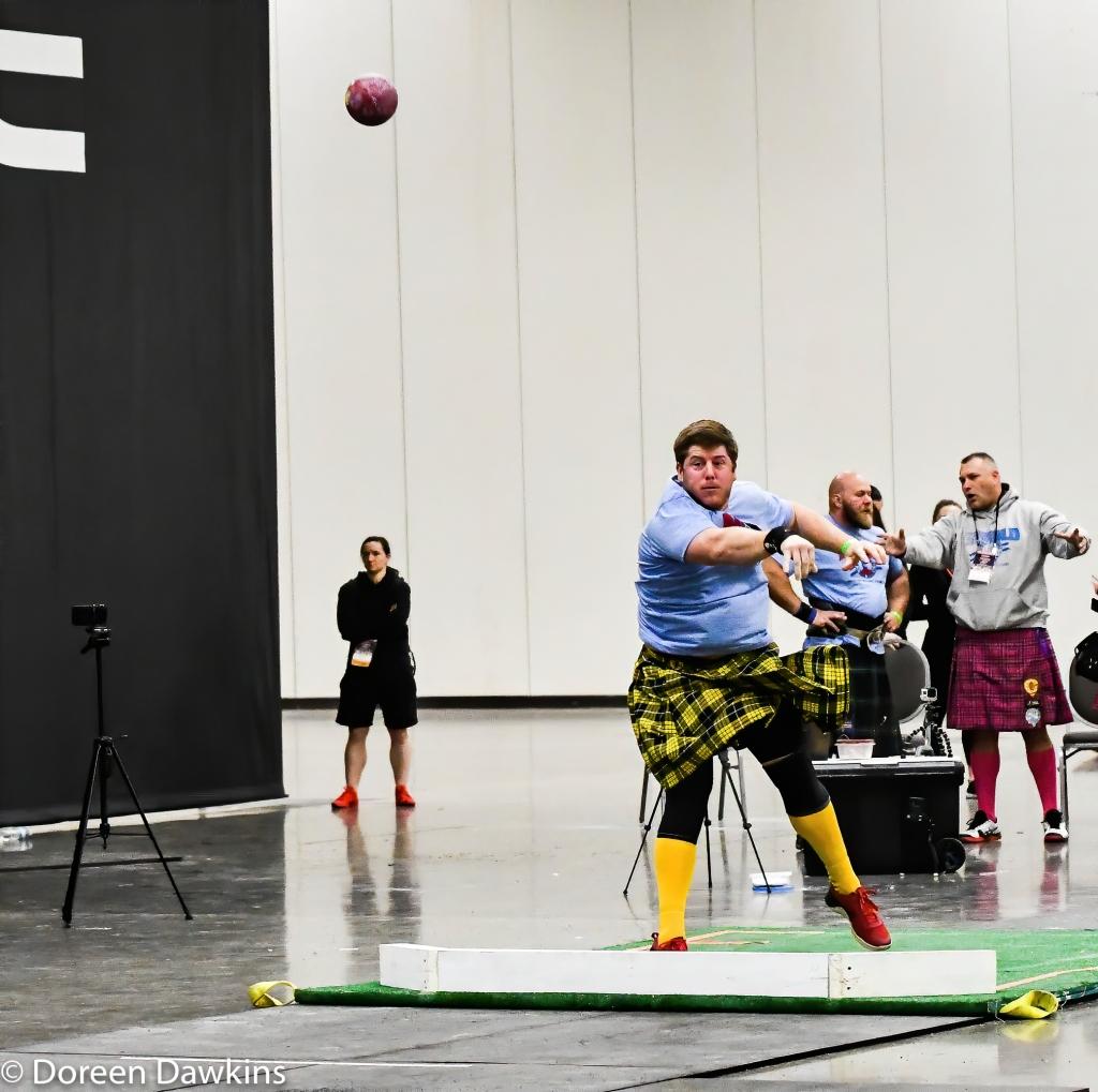 Shot put, Scottish Highland Games at the Arnold Sports Festival 2020