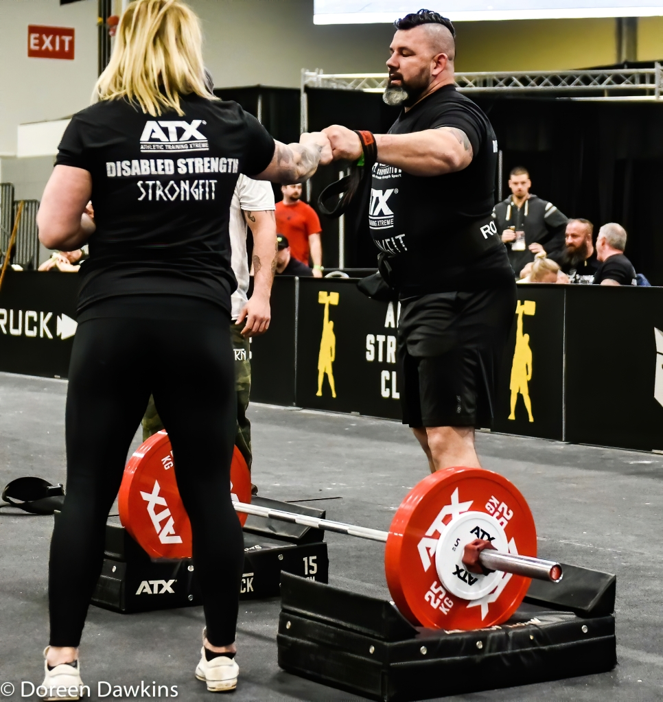 Disabled Strongman One Arm Deadlift World Record holder, Mike Diehl Arnold Sports Festival 2020