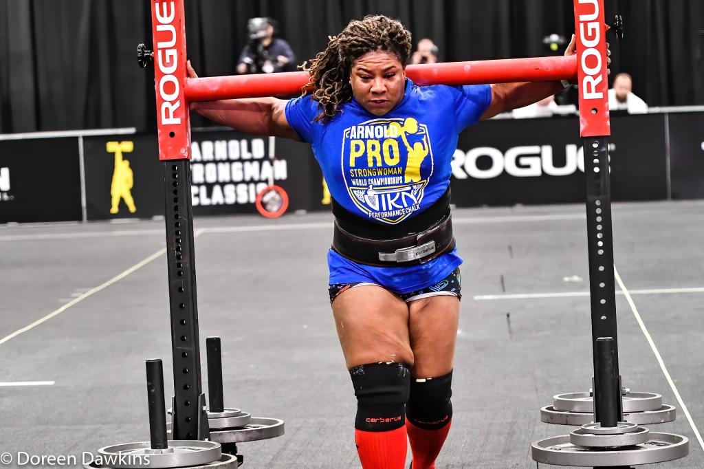 Pro Strongwoman Andrea Thompson Yoke Walk, Arnold Sports Festival 2020